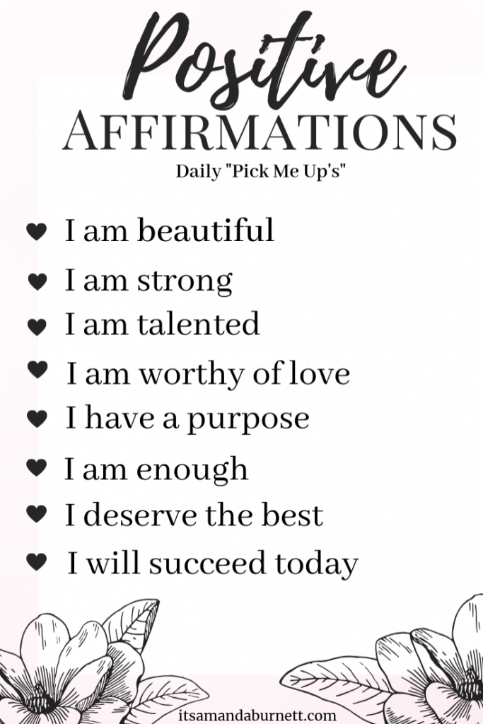 positive affirmation list