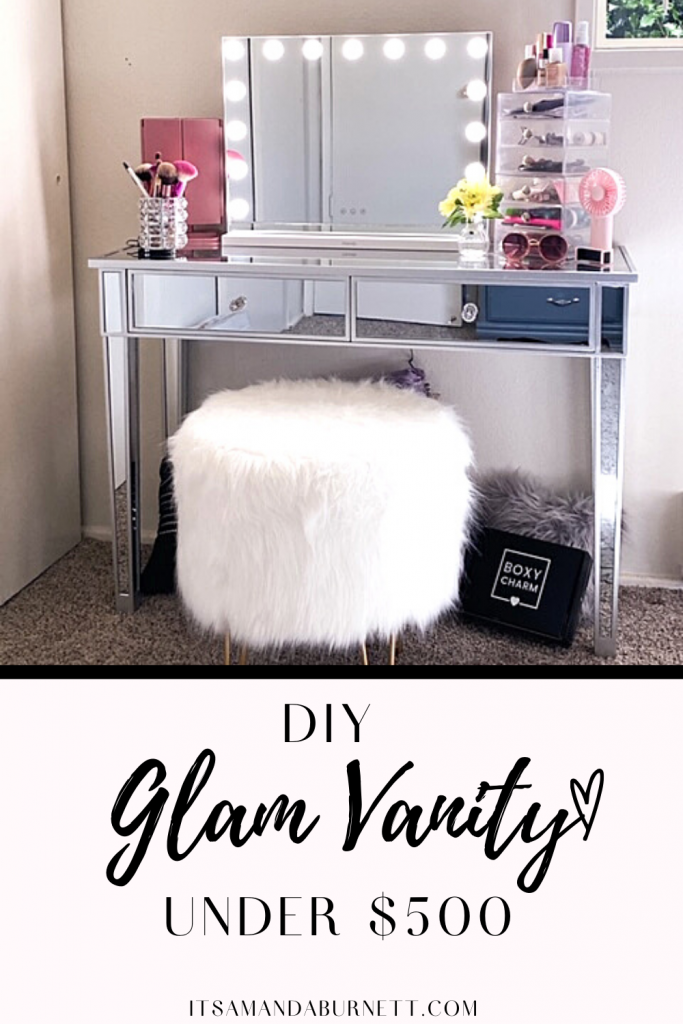 makeup vanity - pinterest graphic
