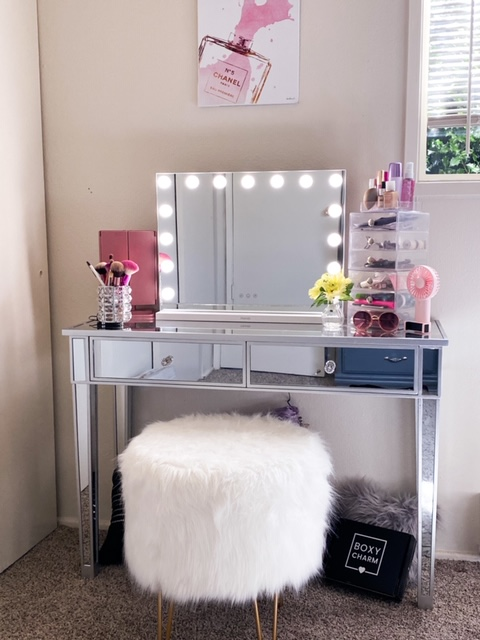 My glam makeup vanity