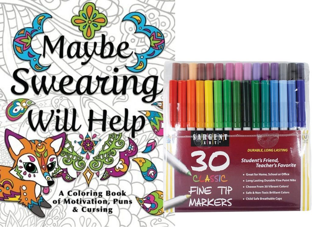 adult coloring book - gift guide