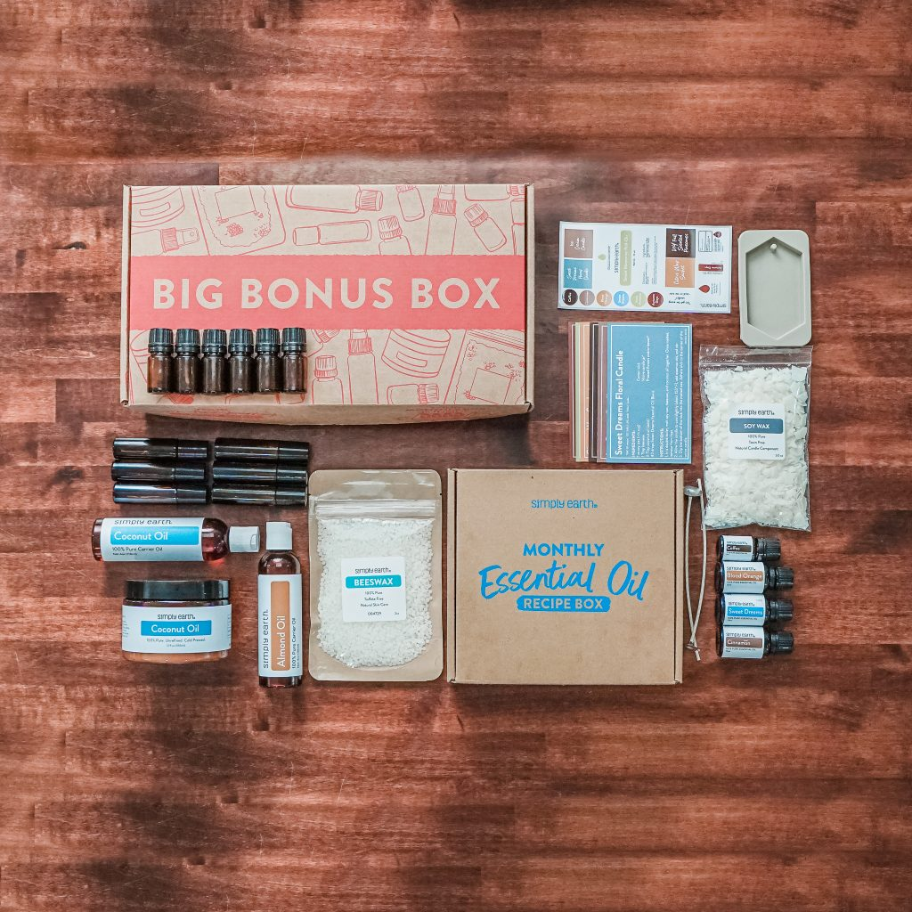 simply earth monthly essential oil box